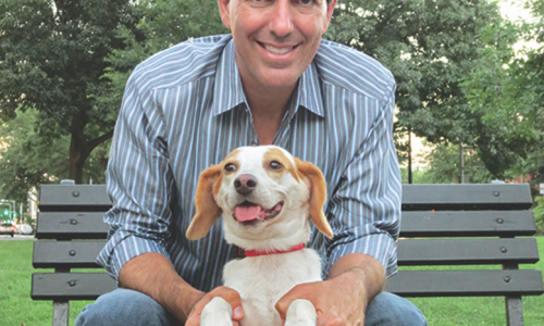 Wayne Pacelle and his adopted dog, Lily.